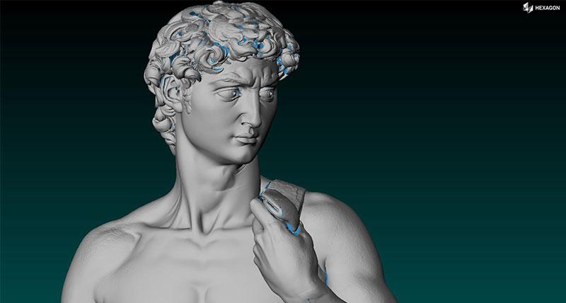 Dubai'de tanıtılan Michelangelo'nun Davut heykeli, Hexagon tarama teknolojisi kullanılarak yeniden üretildi